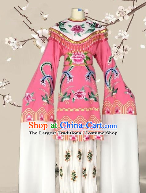 Chinese Traditional Beijing Opera Actress Pink Dress Ancient Palace Empress Costume for Adults