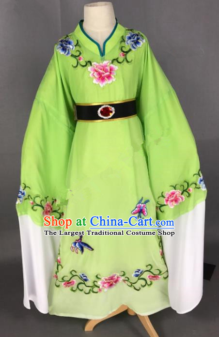 Chinese Beijing Opera Niche Green Robe Traditional Peking Opera Scholar Costume for Adults