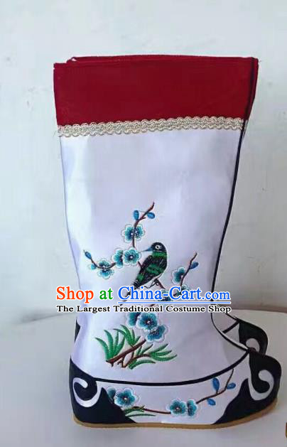 Chinese Traditional Beijing Opera Shoes Peking Opera Takefu Embroidered Boots for Men