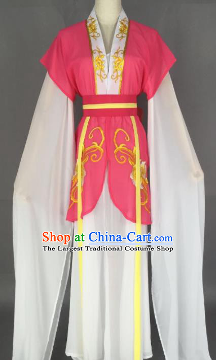 Chinese Ancient Court Maid Rosy Dress Traditional Beijing Opera Actress Costume for Adults