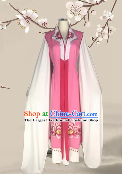 Chinese Beijing Opera Buddhist Nun Dress Ancient Nobility Lady Costume for Adults