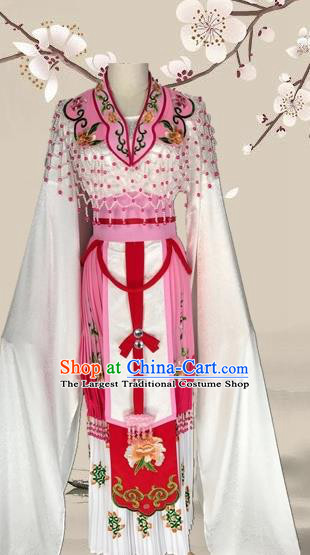 Chinese Ancient Imperial Consort Pink Dress Traditional Beijing Opera Diva Costume for Adults