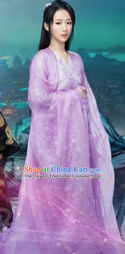 Chinese Ancient Peri Princess Hanfu Dress The Honey Sank Like Frost Palace Lady Costumes for Women