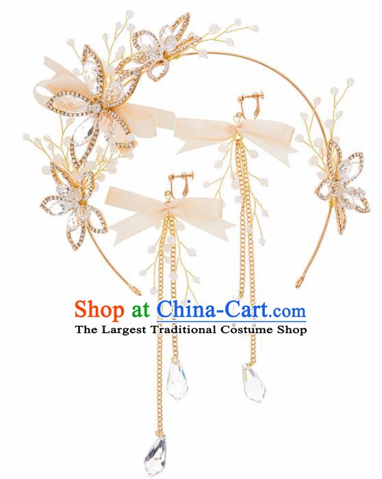Top Grade Bride Wedding Hair Accessories Crystal Flowers Hair Clasp for Women