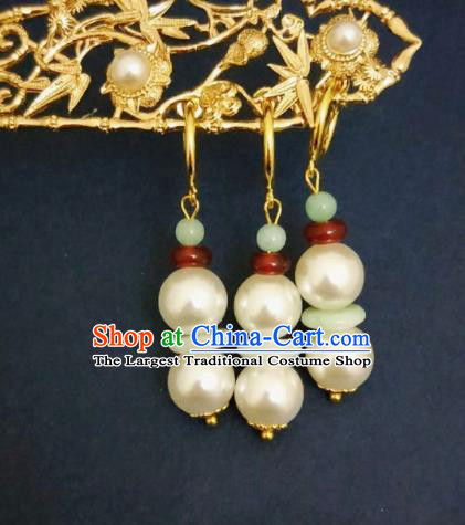 Chinese Ancient Earrings Qing Dynasty Manchu Palace Lady Ear Accessories for Women