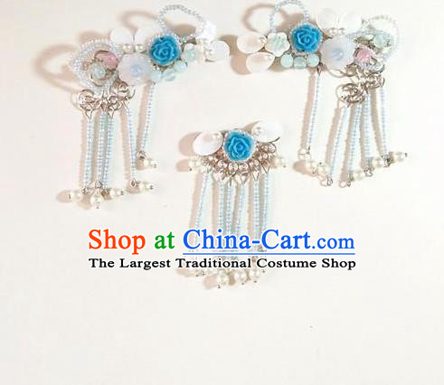 Chinese Ancient Qing Dynasty Hair Accessories Palace Hair Sticks for Women