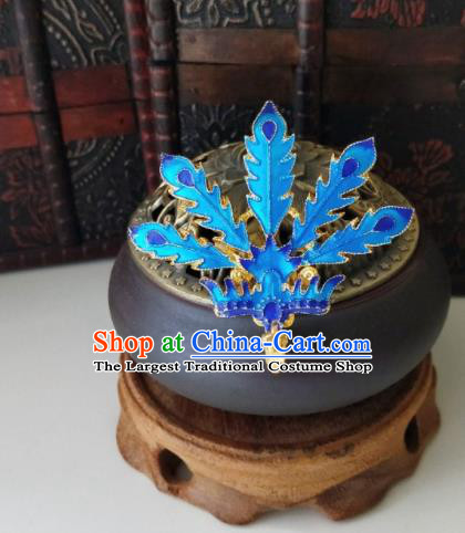 Chinese Ancient Cloisonne Phoenix Hair Comb Qing Dynasty Hair Accessories Hairpins for Women