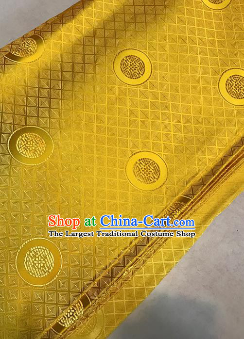 Asian Golden Brocade Chinese Traditional Pattern Fabric Silk Fabric Chinese Fabric Material