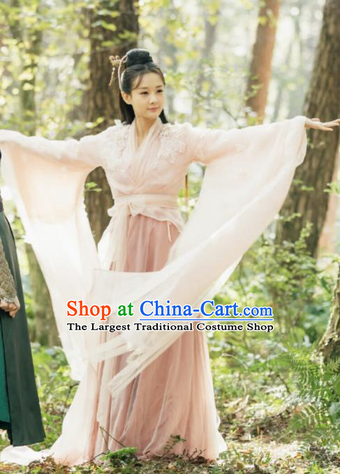 Chinese Ancient Swordswoman Costume Traditional Princess Hanfu Dress Fairy Clothing for Women