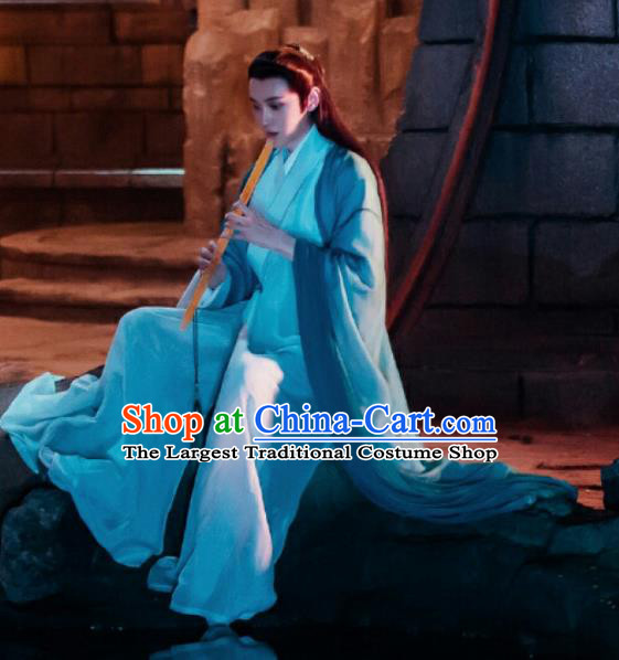 Chinese Ancient Swordsman Costume Traditional Drama Nobility Childe Clothing for Men