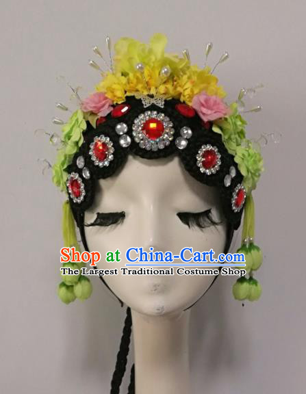 Chinese Traditional Classical Dance Hair Accessories Beijing Opera Wig and Headwear for Women