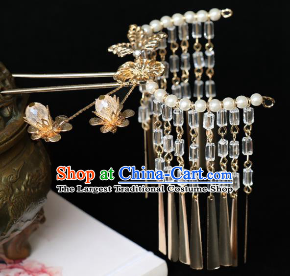 Chinese Traditional Hair Accessories Ancient Tassel Step Shake Hairpins for Women