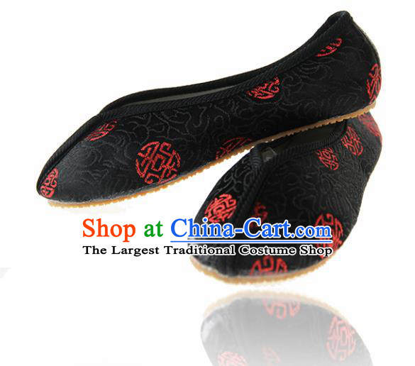 Asian Chinese Ancient Cloth Shoes Traditional Hanfu Shoes for Kids
