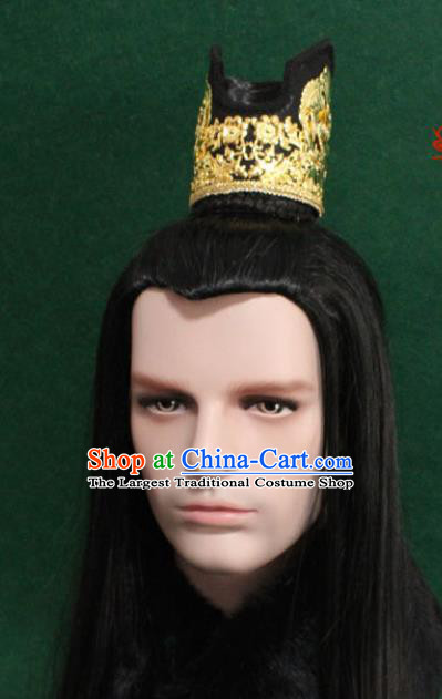 Chinese Traditional Taoist Hair Accessories Ancient Tang Dynasty Prince Hairdo Crown for Men