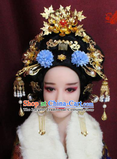 Chinese Ancient Imperial Consort Peony Hair Accessories Tang Dynasty Empress Phoenix Coronet Hairpins for Women