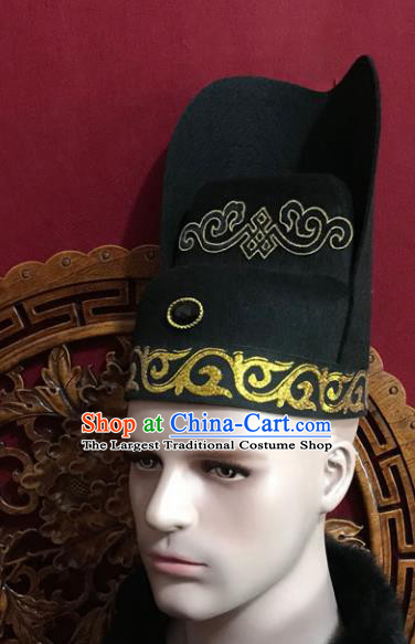 Chinese Traditional Hair Accessories Ancient Tang Dynasty Chancellor Hat for Men