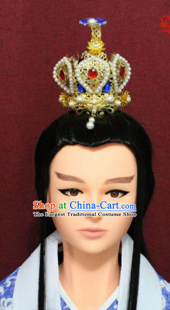 Chinese Traditional Swordsman Jewel Hairdo Crown Ancient Prince Hair Accessories for Men