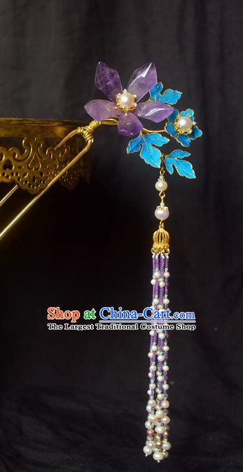 Chinese Handmade Princess Hairpins Tassel Step Shake Ancient Hair Clip Hair Accessories for Women