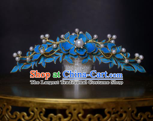 Chinese Handmade Princess Hanfu Pearls Lotus Hair Comb Hairpins Ancient Hair Accessories for Women