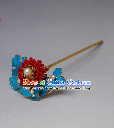 Chinese Ancient Qing Dynasty Hair Accessories Handmade Palace Tian-Tsui Butterfly Hairpins for Women