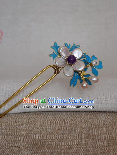 Chinese Handmade Hair Accessories Hanfu Pearls Hairpins Ancient Hair Clip for Women