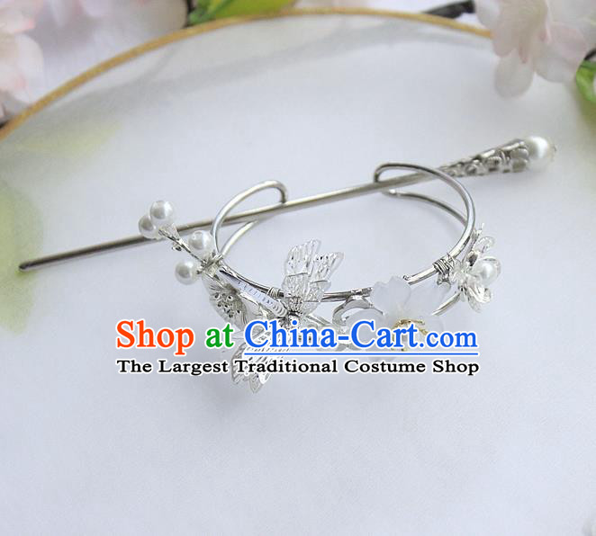 Chinese Ancient Hair Accessories Hanfu Hairdo Crown Handmade Hairpins for Women