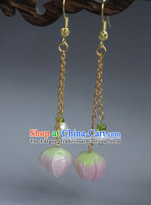 Asian Chinese Traditional Jewelry Accessories Hanfu Equinox Flower Earrings for Women