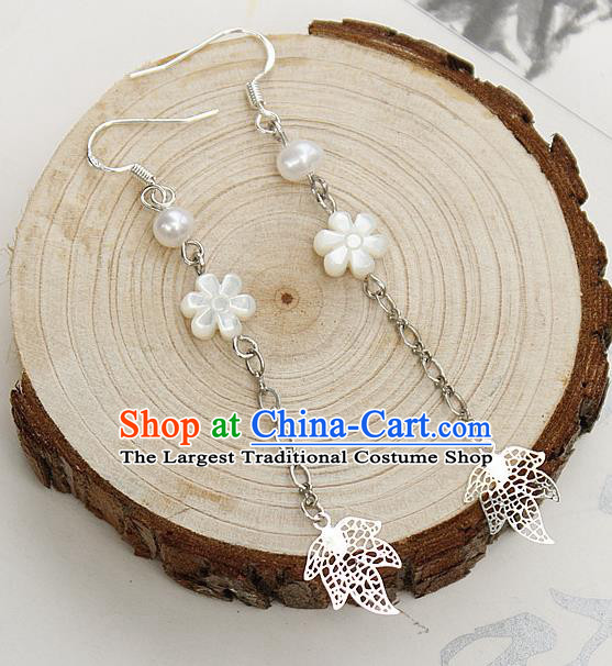 Asian Chinese Traditional Jewelry Accessories Hanfu Traditional Flowers Earrings for Women