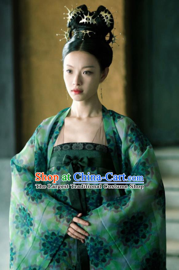 The Rise of Phoenixes Chinese Ancient Princess Hanfu Dress Tang Dynasty Palace Lady Costumes and Headpiece Complete Set