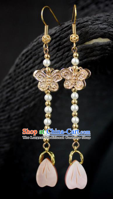 Top Grade Chinese Jewelry Accessories Wedding Hanfu Butterfly Earrings for Women