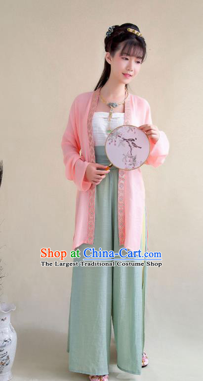 Top Grade Chinese Ancient Young Lady Costumes Song Dynasty Hanfu Dress for Women
