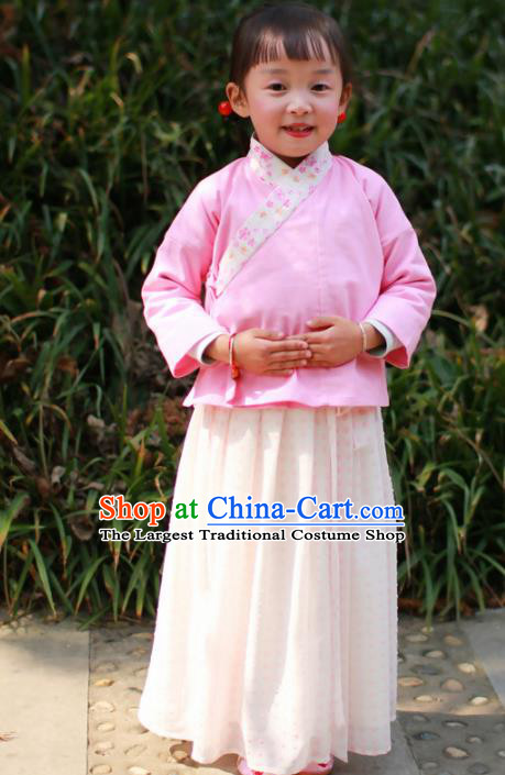 Traditional Chinese Ancient Children Costumes Ming Dynasty Princess Clothing for Kids
