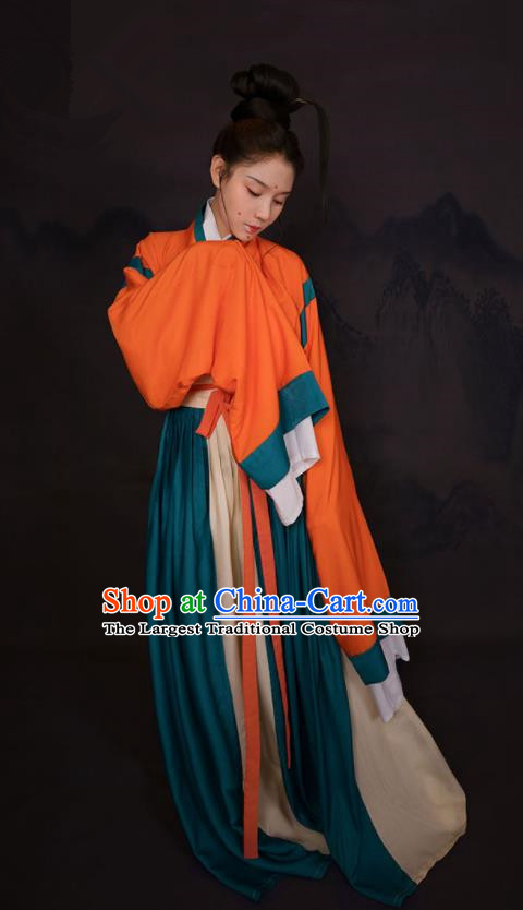 Top Grade Chinese Ancient Costumes Jin Dynasty Palace Princess Hanfu Dress for Women