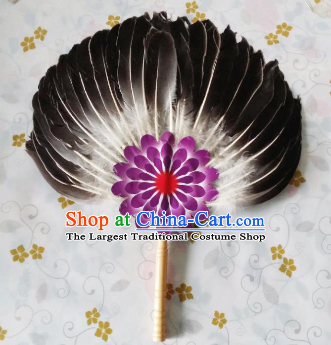 Traditional Chinese Feather Fans Kong Ming Fan