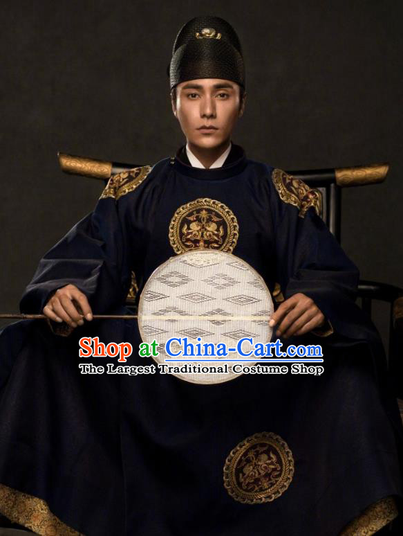 The Rise of Phoenixes Ancient Chinese Tang Dynasty Emperor Costume and Hat for Men
