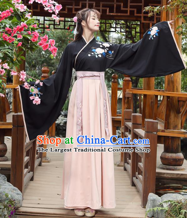 Chinese Traditional Han Dynasty Young Lady Costume Ancient Hanfu Dress for Rich Women
