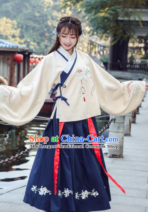 Chinese Traditional Ming Dynasty Princess Costume Ancient Hanfu Dress for Rich Women