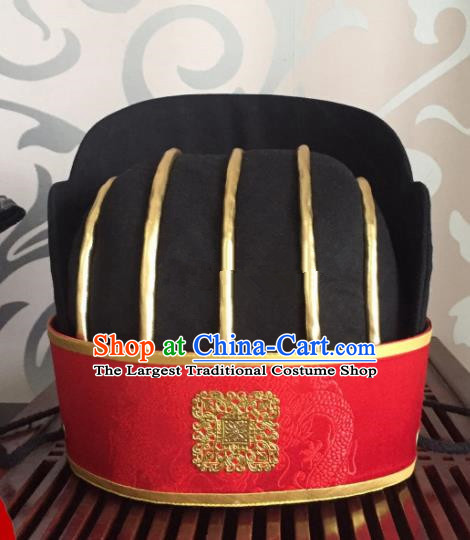 Traditional Chinese Ancient Minister Hat Han Dynasty Headwear for Men