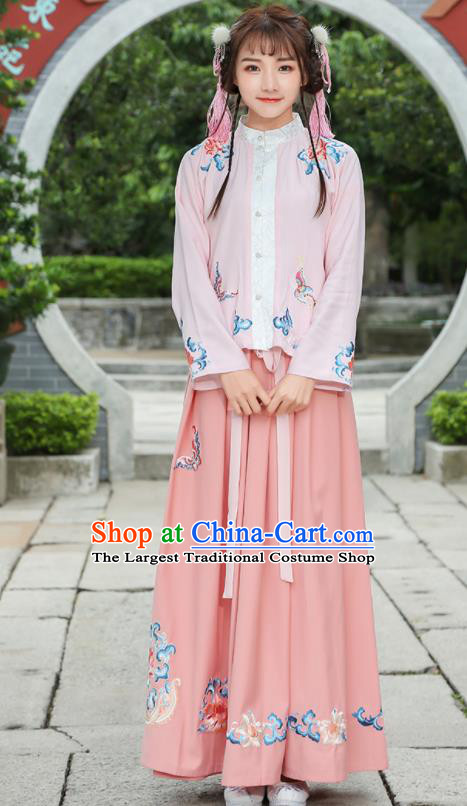 Chinese Ancient Ming Dynasty Nobility Lady Embroidered Costume for Rich Women