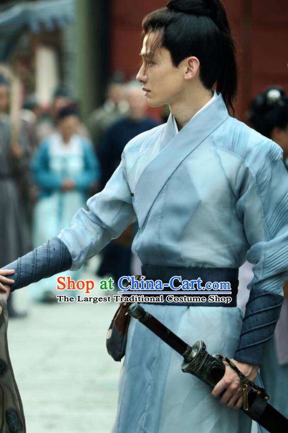 Ancient Chinese Tang Dynasty Swordsman Clothing The Rise of Phoenixes Young Hero Costume for Men