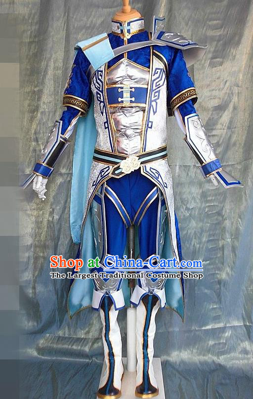 Asian Chinese Cosplay Customized Warriors Costume Ancient Swordsman Clothing for Men