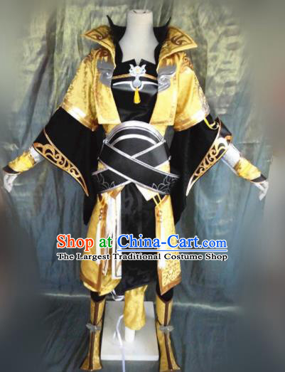 Asian Chinese Cosplay Female General Costume Ancient Swordswoman Dress for Women