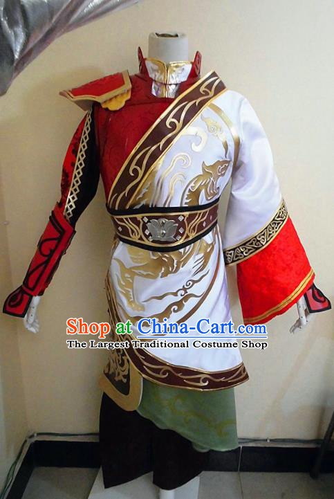 Asian Chinese Cosplay Military Officers Customized Costume Ancient Swordsman Clothing for Men