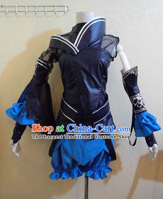 Asian Chinese Cosplay Female Swordsman Costume Ancient Young Lady Clothing for Women