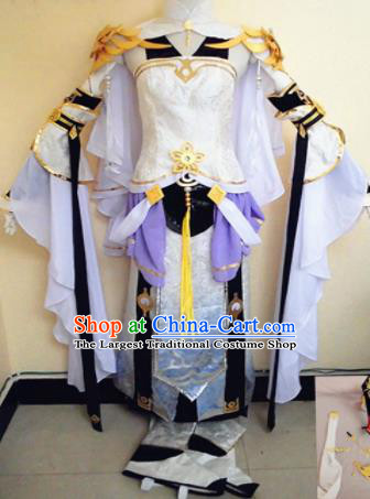 Asian Chinese Cosplay Female Warrior Knight Costume Ancient Swordsman Clothing for Women
