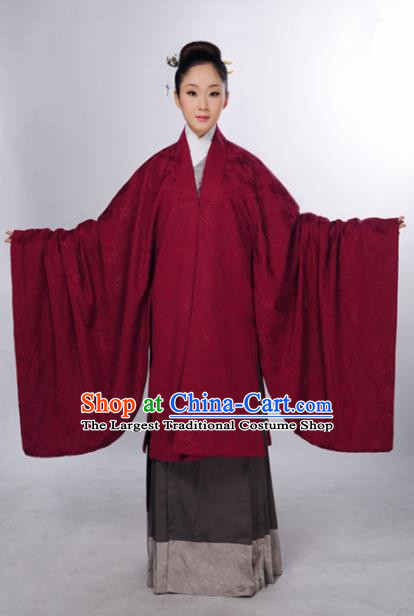 Traditional Chinese Ming Dynasty Maidenform Cloak Ancient Marquise Costume for Women