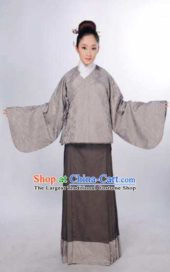 Traditional Chinese Ming Dynasty Maidenform Blouse and Skirt Ancient Marquise Costume for Women