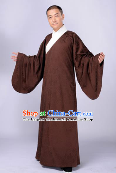 Chinese Traditional Ming Dynasty Scholar Costumes Ancient Taoist Robe for Men