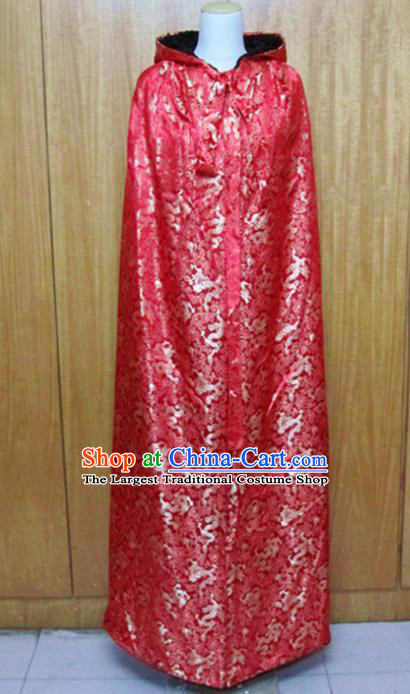 Traditional Chinese Ming Dynasty Red Cloak Ancient Princess Costume for Women