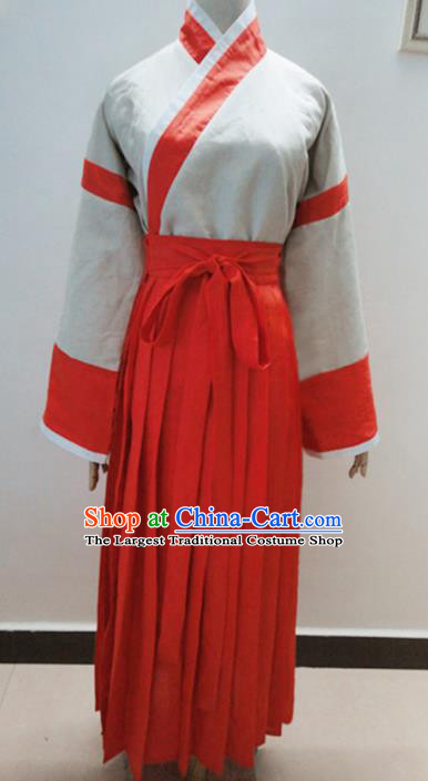 Traditional Chinese Han Dynasty Nobility Lady Hanfu Dress Ancient Fairy Costume for Women
